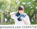 運動 女孩們 毛巾 31094738