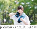 運動 女孩們 毛巾 31094739
