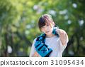 一個年輕成年女性 女性 運動 31095434