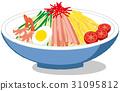 中式涼麵 麵條 矢量 31095812