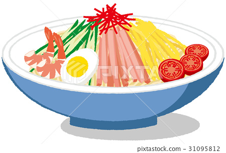 chilled chinese noodles, noodles, vector 31095812