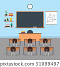 Cartoon Interior Classroom School or University 31099497