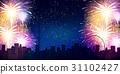 불꽃 놀이 밤하늘 여름 배경 31102427