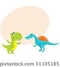 dinosaur, spinosaurus, tyrannosaurus 31105165