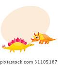 dinosaur, stegosaurus, triceratops 31105167