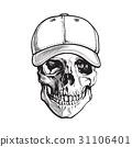 skull, vector, white 31106401