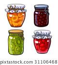 擁擠 果醬 向量 31106468