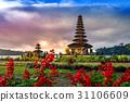 pura ulun danu bratan temple in Bali, indonesia. 31106609