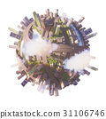 Conceptual Planet city 3d rendering 31106746