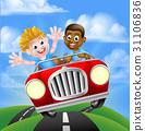 car, cartoon, driving 31106836