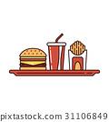 food, fast, burger 31106849