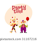 Two cheerful clown on a holiday 31107216