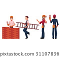worker construction vector 31107836