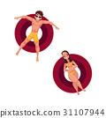Man in sunglasses and woman wearing bikini on 31107944
