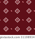 red white diamond frame knit pattern background 31108934