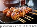 japanese meatball grill  tsukune. 31109328