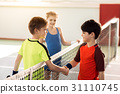 Happy children ending sport competition by 31110745
