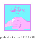 Happy father's day greeting card,Fist bump design 31111538