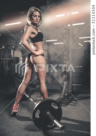 Pretty fitness sexy model luxury ass fat burning concept 31114504