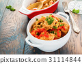 Healthy low-calorie dish, turkey fillet 31114844