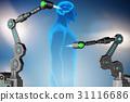 Future medicine concept with robotic arms 31116686