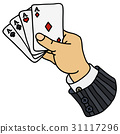 Four aces in hand 31117296