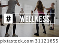 Workout Wellbeing Helthcare Fitness Concept 31121655