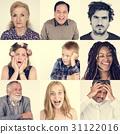 Diversity people set emotional on white background 31122016