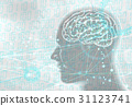 人工智能和人類 - 白色 31123741
