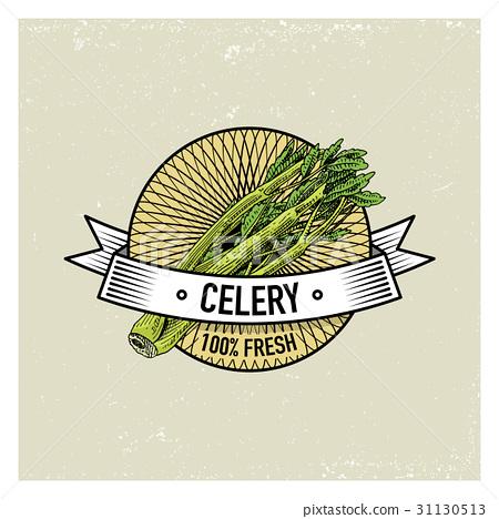 Celery Vintage set of labels, emblems or logo for 31130513