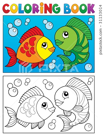 Coloring book with fish theme 5 31133014