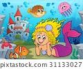 Happy mermaid theme 2 31133027