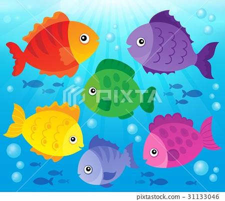 Stylized fishes theme image 3 31133046