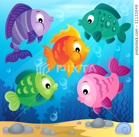 Stylized fishes theme image 6 31133049
