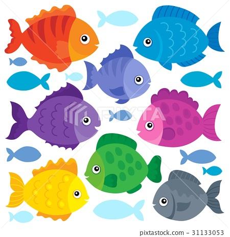 Stylized fishes theme set 1 31133053