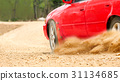 Rally car in dirt track. 31134685