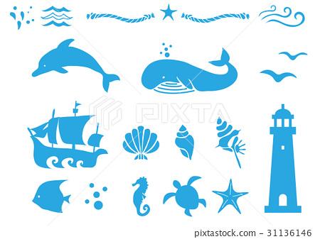 矢量 海洋 海 31136146