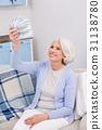 Elderly woman with money 31138780