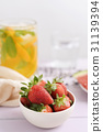 strawberries and cold tea 31139394