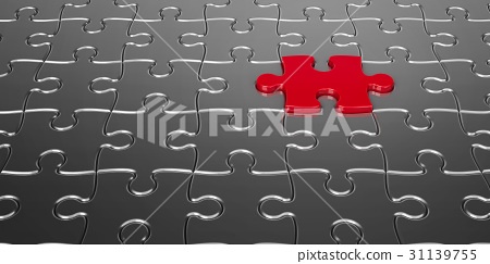 Red puzzle piece 31139755
