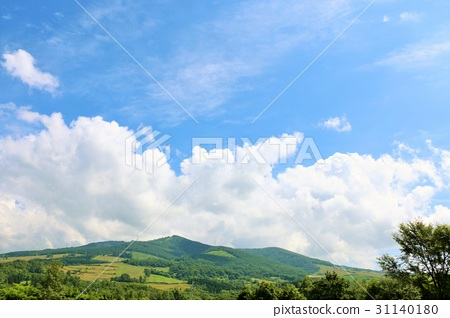 blue sky, white cloud, natural scenery 31140180