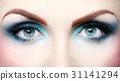 Beautiful eye makeup close up 31141294