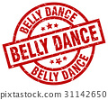 belly dance round red grunge stamp 31142650