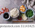 Ingredients for stir fry 31143425