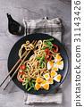 Stir fry udon noodles 31143426