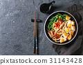 Stir fry udon noodles 31143428