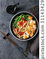 Stir fry udon noodles 31143429
