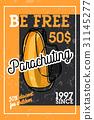Color vintage parachuting banner 31145277