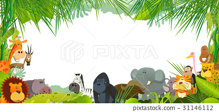 Postcard With Wild African Animals 31146112