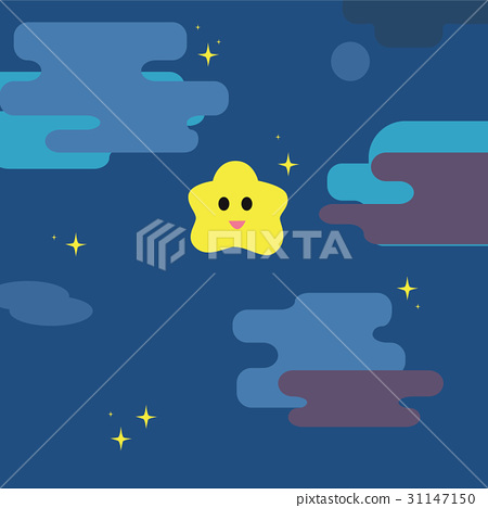 Twinkle little star with night sky background  31147150